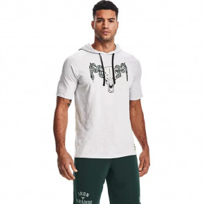 UA Project Rock Charged Short Sleeve Hoodie ''Halo Grey''